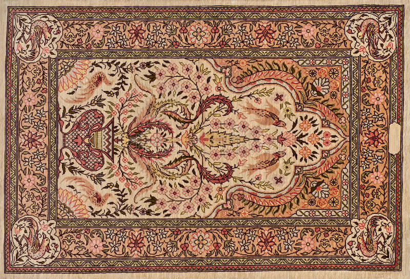 Carpet. Beautiful hand woven vintage oriental carpet stock image