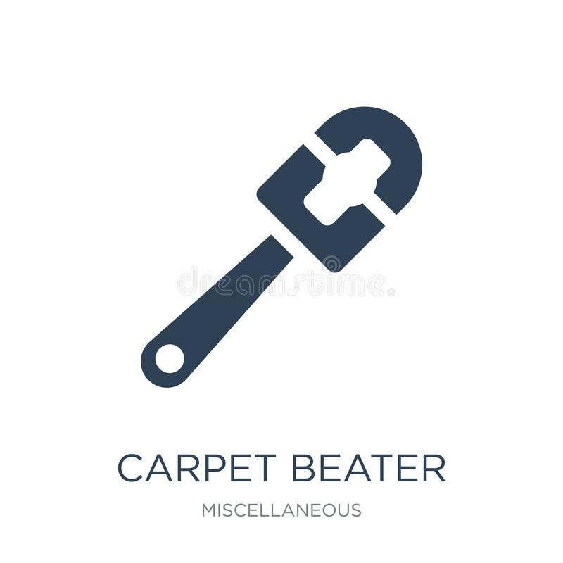 carpet beater icon in trendy design style. carpet beater icon isolated on white background. carpet beater vector icon simple and royalty free illustration