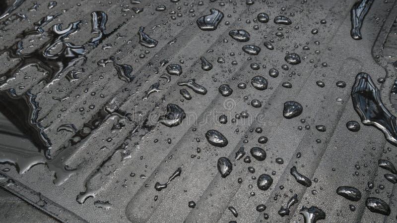 Carpet car with water drop. stock photography