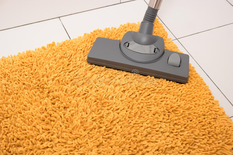 Carpet cleaning in the bathroom. royalty free stock images