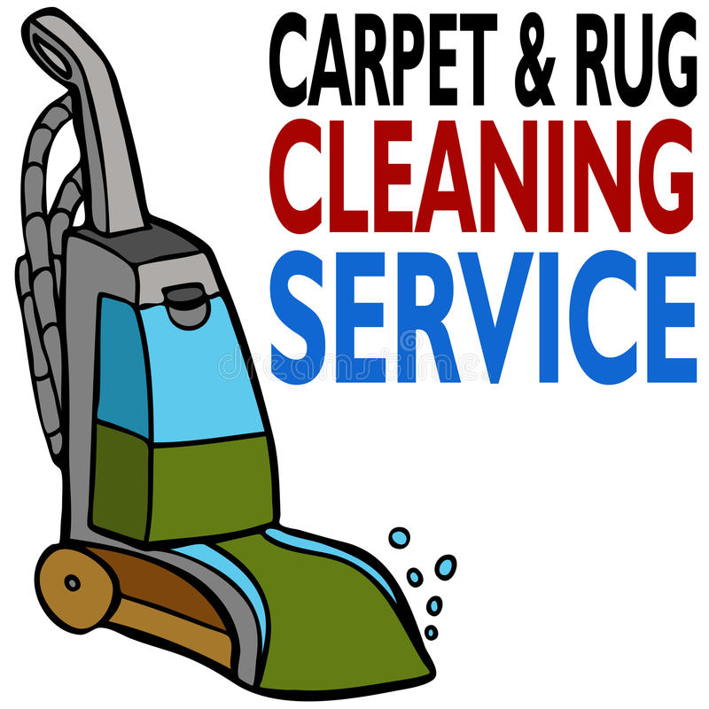 Carpet Cleaning Service royalty free illustration