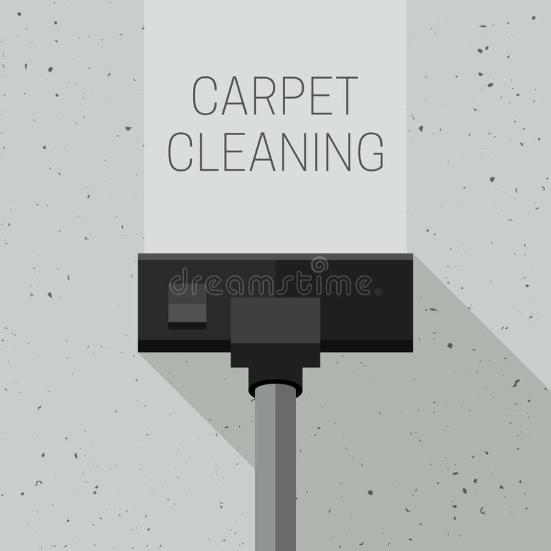Carpet cleaning with vacuum cleaner royalty free illustration
