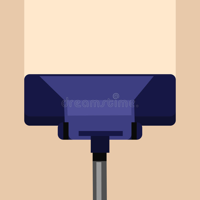 Carpet Cleaning Vector Concept In Flat Design. Carpet cleaning vector concept. Flat style. Vacuum cleaner cleans carpet or floor from dirt and dust. Illustration stock illustration