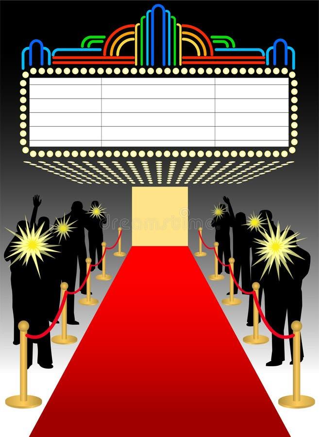 carpet eps marquee premier red διανυσματική απεικόνιση