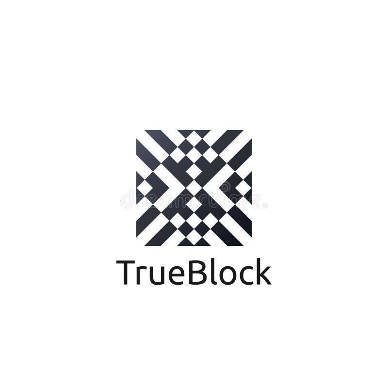 carpet floor tile wall logo icon symbol. block cube pattern element illustration stock illustration