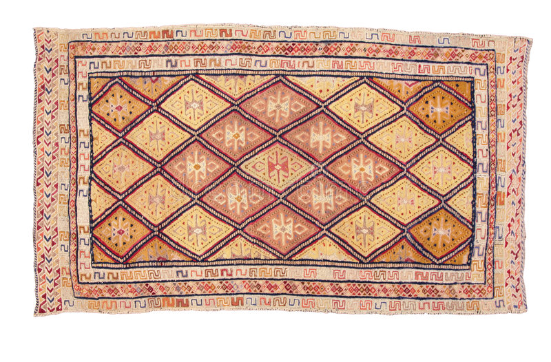 Carpet with geometric ornament royalty free stock image