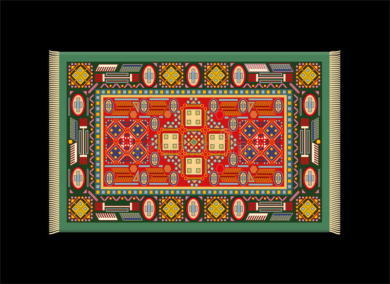 Download Carpet Green Red Royalty Free Stock Images - Image: 37614889