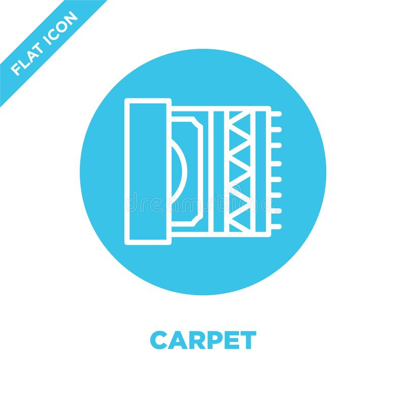 carpet icon vector from furnitures collection. Thin line carpet outline icon vector  illustration. Linear symbol for use on web vector illustration