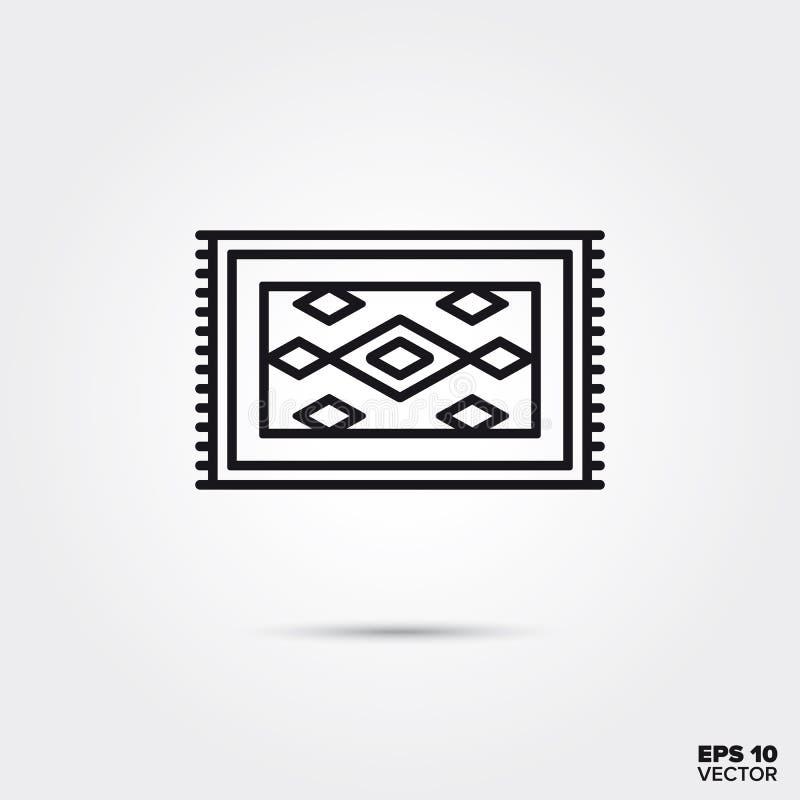 Carpet vector line icon stock illustration