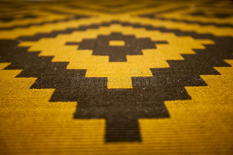 Carpet pattern. Wool carpet pattern with geometric stepped shape stock photos