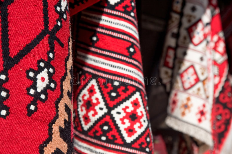 Carpet rug. A oriental rug carpets at the street of the sarajevo in Bosnia and Herzegovina stock image