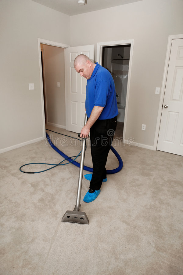 Carpet steam cleaning stock images