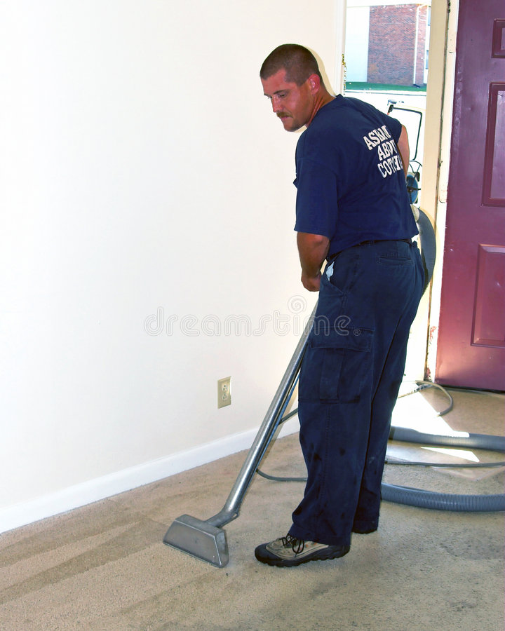 Carpet steam cleaning stock photo