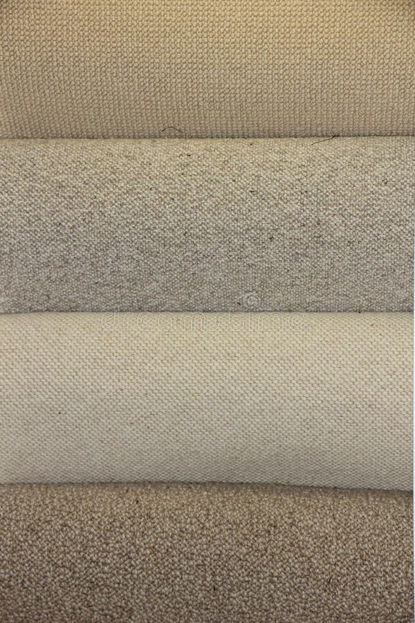 Carpet swatches in a shop royalty free stock image