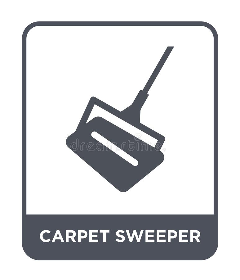 carpet sweeper icon in trendy design style. carpet sweeper icon isolated on white background. carpet sweeper vector icon simple royalty free illustration