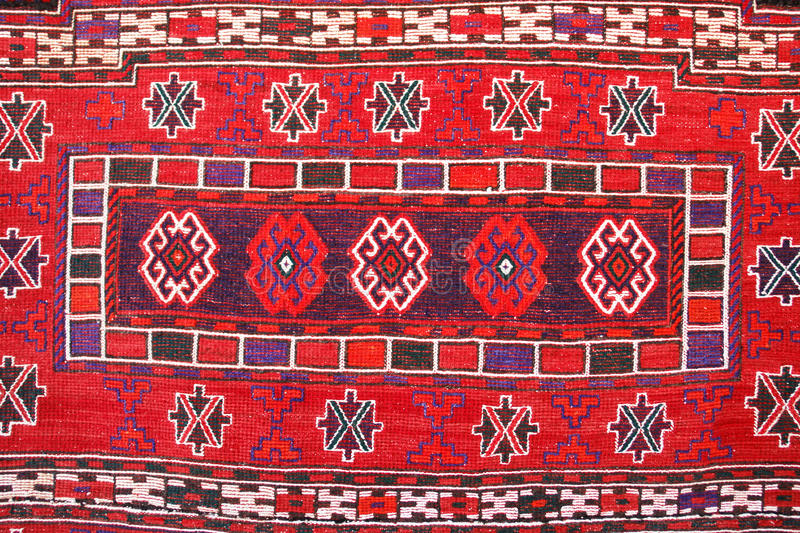 Carpet With Traditional Turkish Patterns Stock Photography