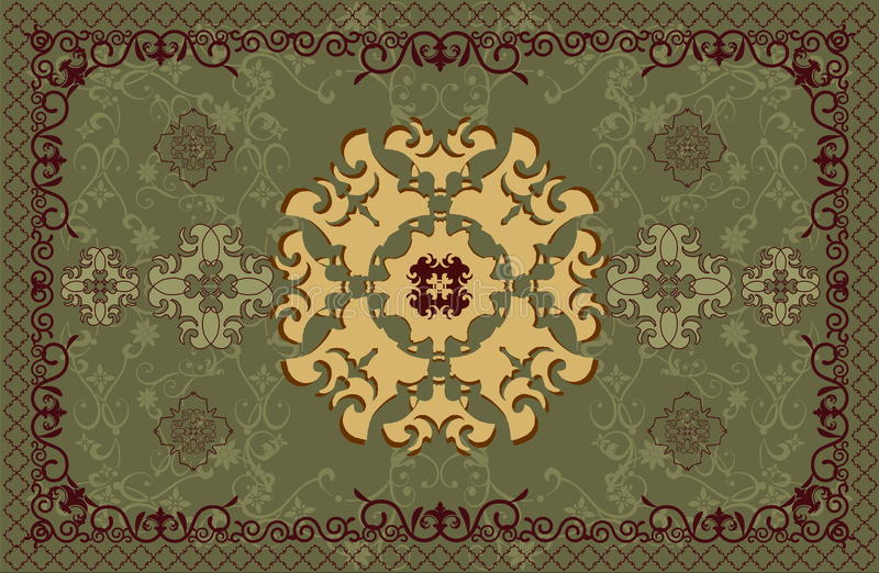 Carpet vector pattern stock photography