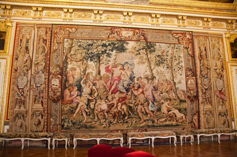 Carpet wall in the palace of Versailles royalty free stock photo
