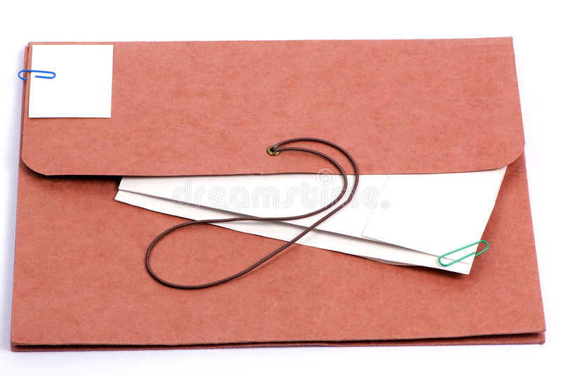 Carpeta 2 de Brown fotografía de archivo libre de regalías
