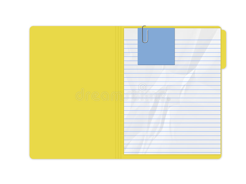Carpeta amarilla libre illustration
