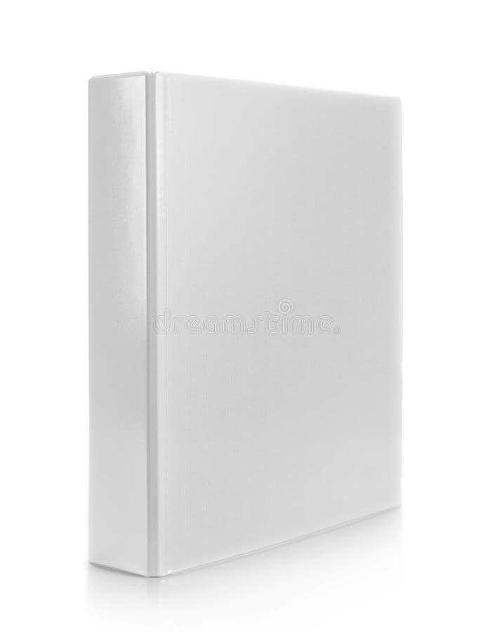 Carpeta blanca foto de archivo libre de regalías