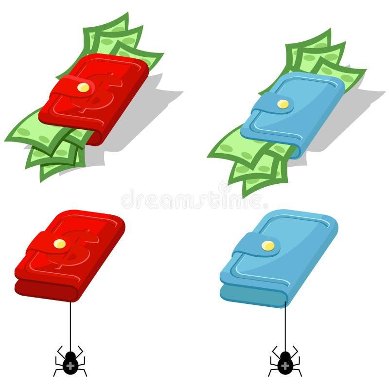 Carpeta con el dinero stock de ilustración