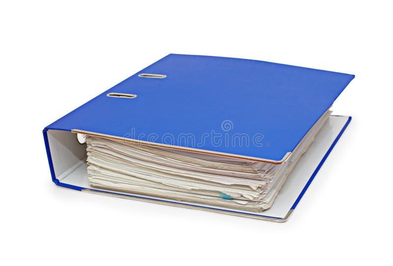 Carpeta con los documentos fotografía de archivo