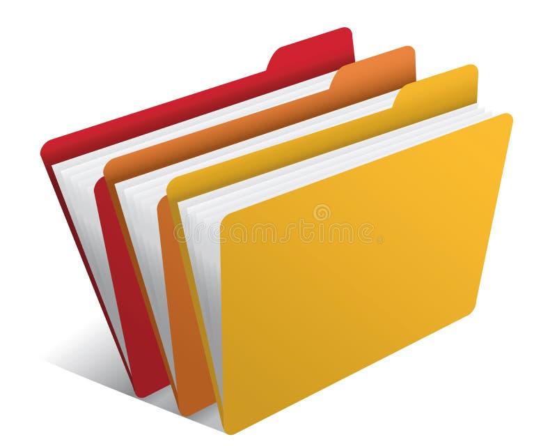 Carpeta con los documentos stock de ilustración