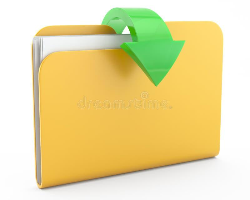 Carpeta con los ficheros stock de ilustración