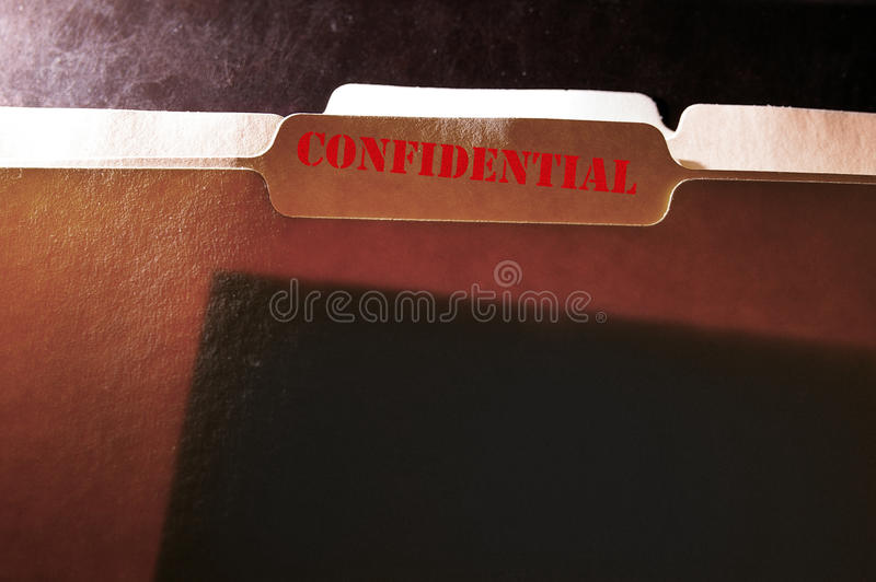 Carpeta confidencial foto de archivo
