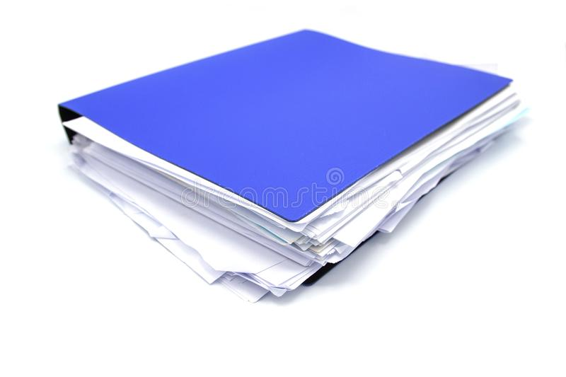Carpeta de archivos con los documentos y los documentos fotos de archivo libres de regalías