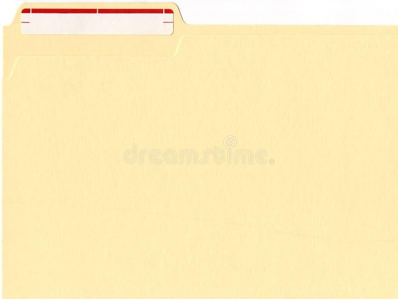 Carpeta de fichero con la escritura de la etiqueta fotos de archivo