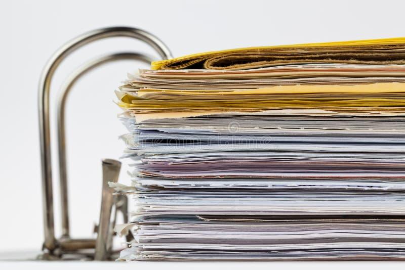 Carpeta de fichero con los documentos y los documentos imagen de archivo