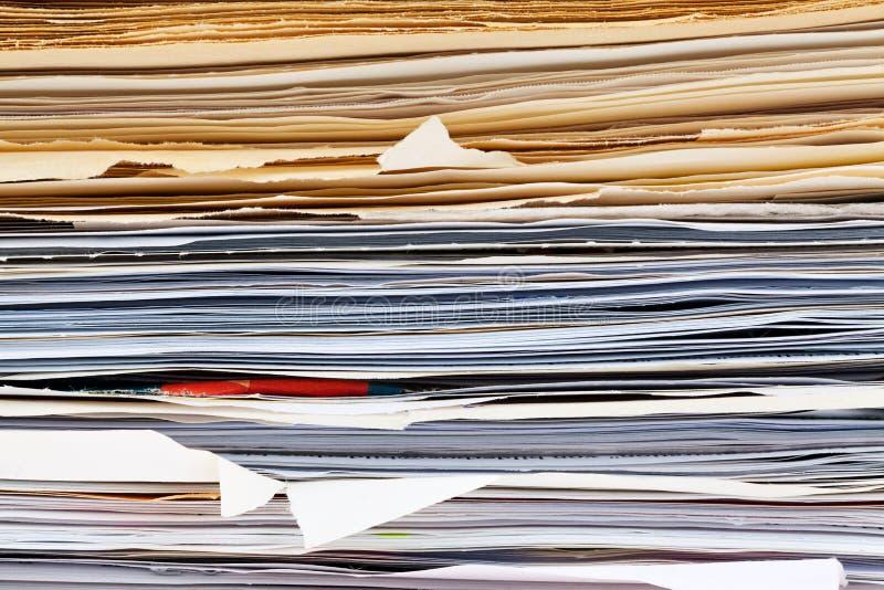 Carpeta de fichero con los documentos y los documentos foto de archivo libre de regalías