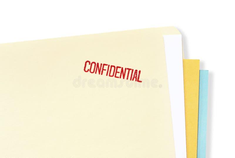Carpeta de fichero confidencial fotografía de archivo