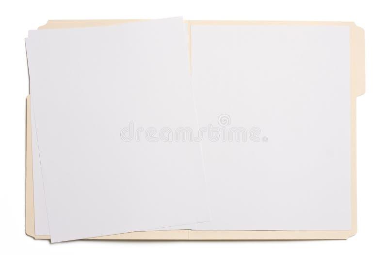 Carpeta de fichero en blanco fotografía de archivo libre de regalías