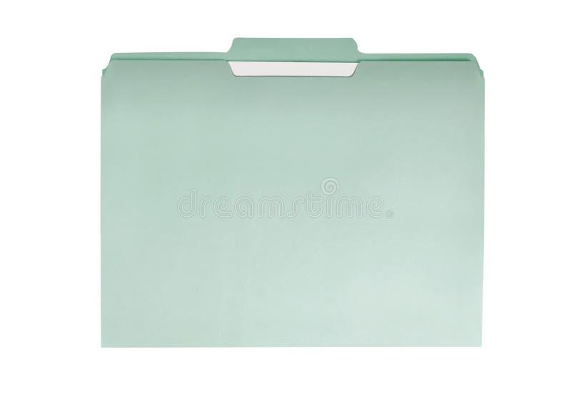 Carpeta de fichero verde foto de archivo libre de regalías