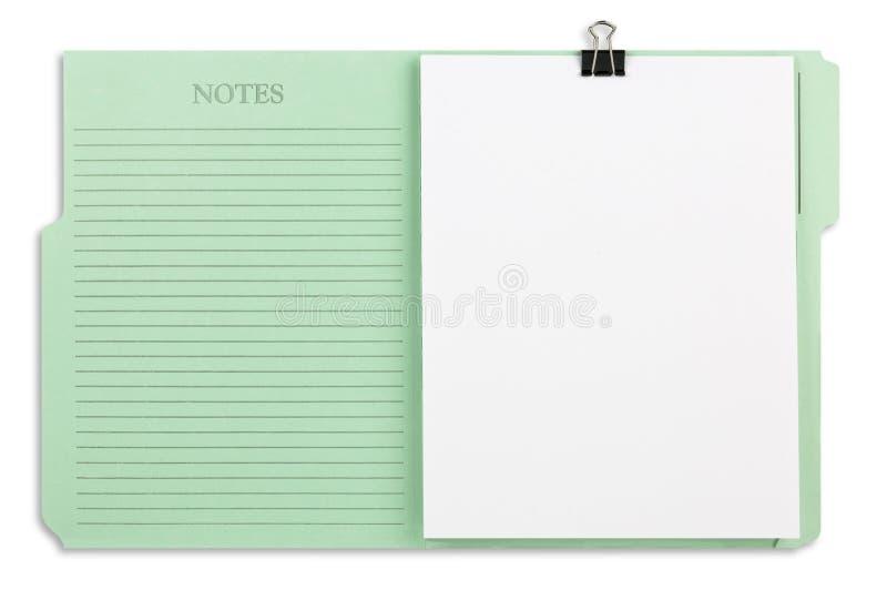 Carpeta de fichero verde con el camino fotos de archivo libres de regalías