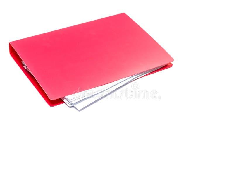 Carpeta de ficheros roja foto de archivo