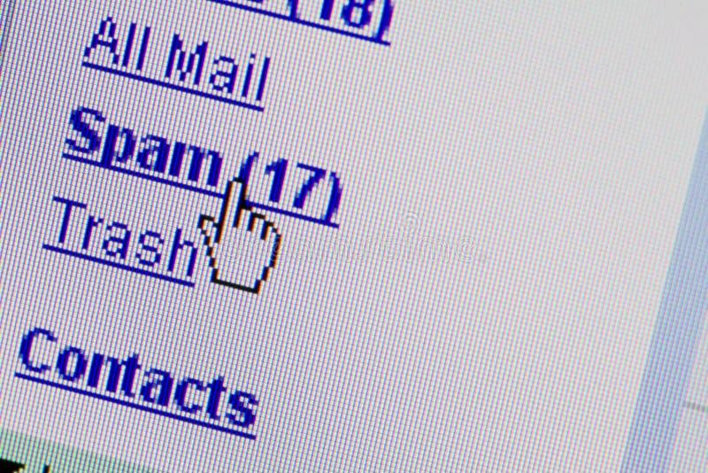 Carpeta de la caja del email del Spam imagen de archivo libre de regalías