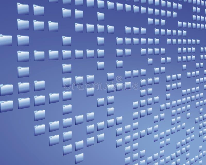 Carpeta de los datos ilustración del vector