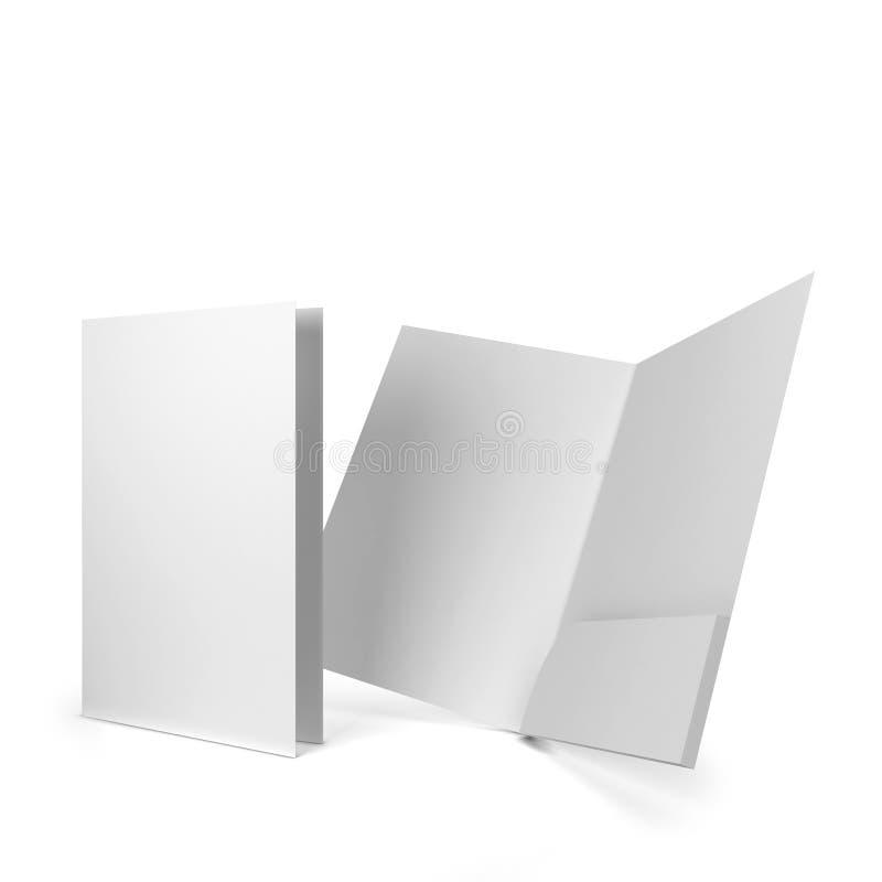 Carpeta del papel en blanco ilustración del vector