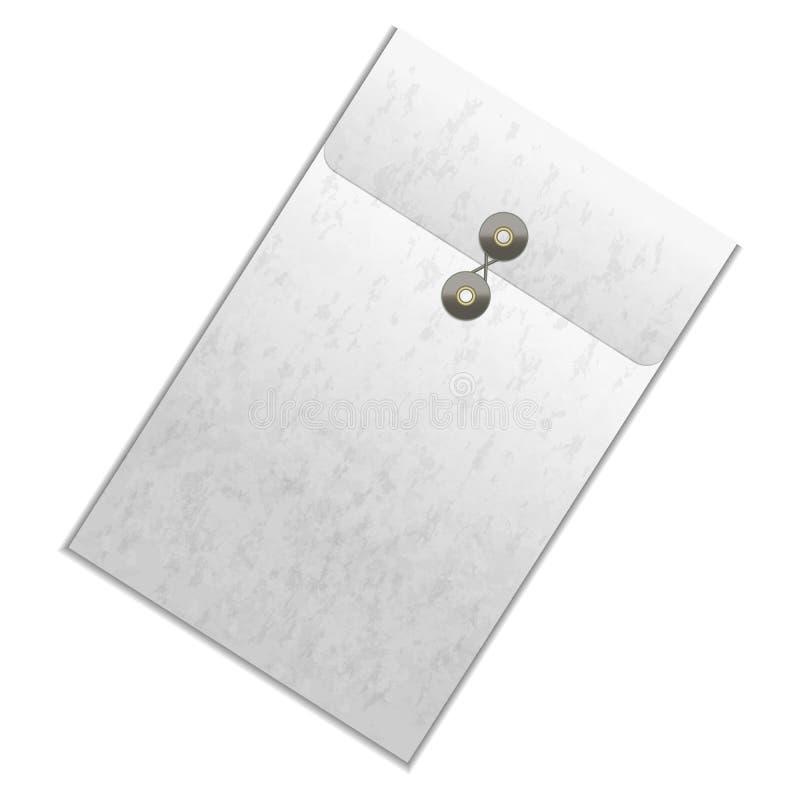 Carpeta detallada blanca del espacio en blanco realista de la plantilla Vector libre illustration