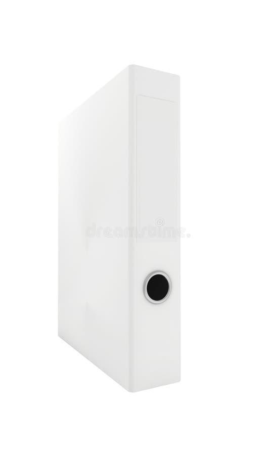 Carpeta en blanco blanca de la oficina foto de archivo