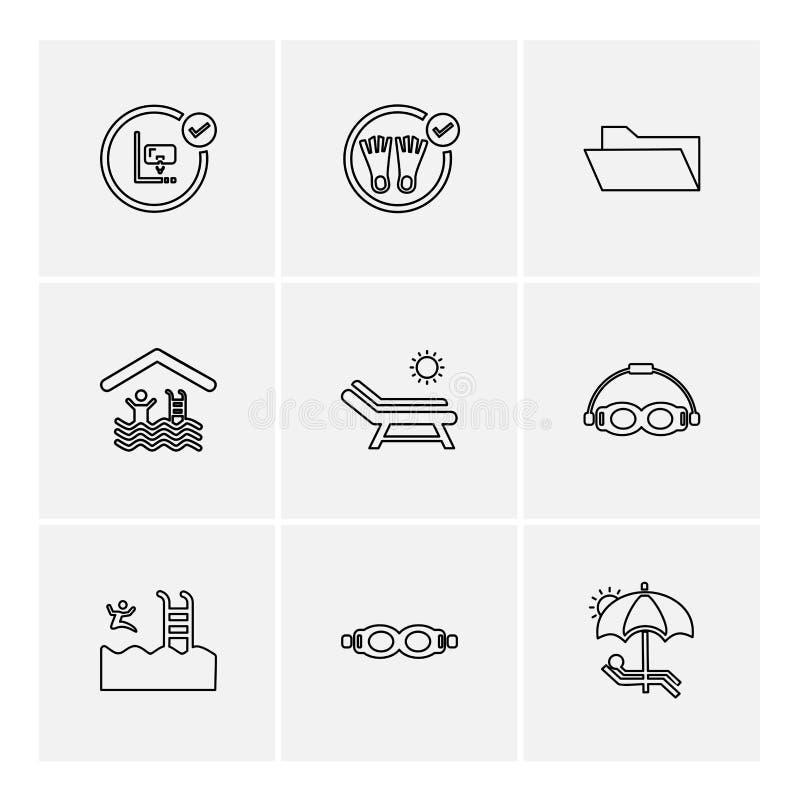 carpeta, ficheros, verano, playa, comida campestre, bebidas, iconos del EPS fijados libre illustration
