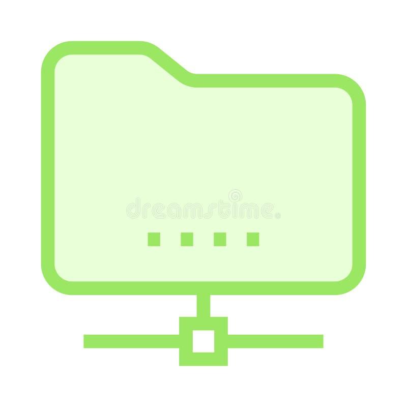 Carpeta que comparte la línea de color icono stock de ilustración
