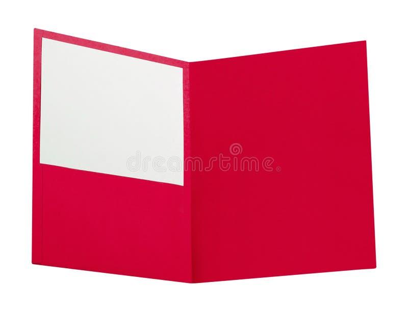 Carpeta roja aislada en blanco imágenes de archivo libres de regalías