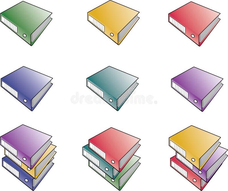 Carpetas imágenes de archivo libres de regalías