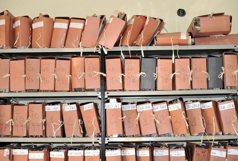 Carpetas foto de archivo libre de regalías