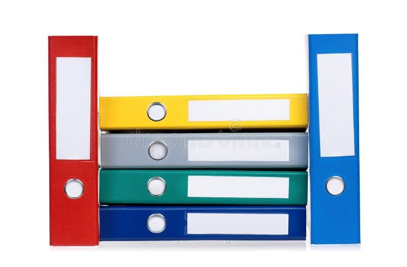 Carpetas coloridas imagenes de archivo